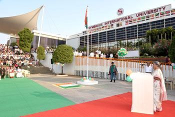68th Republic Day was celebrated at the Symbiosis International University