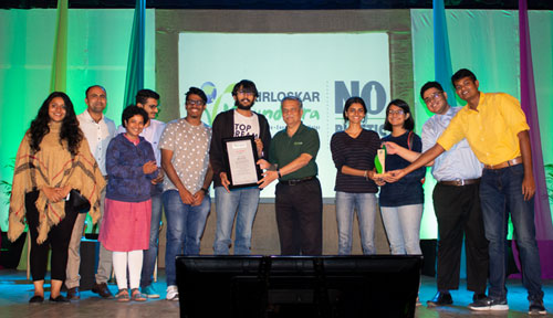 Students of the Biodiversity Cell of Symbiosis International (Deemed University) won several prizes in the competitions held by Kirloskor Vasundhara Film festival (KVFF) 2020