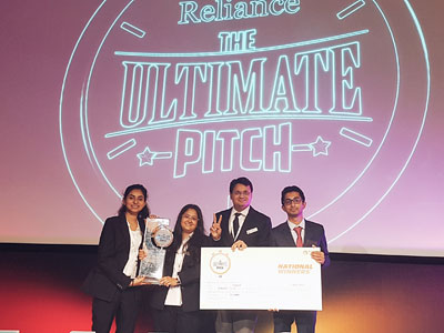 Team 'YODDHAS' from Symbiosis Center for Management and Human Resource Development, (SCMHRD)  comprising of Dr.Shubhra Chakraborty, Prakhar Charurvedi, Prachi Priya and Nilotpal Mishra have won  the national finals of 'Reliance The Ultimate Pitch 3.0' held at reliance corporate park, Navi Mumbai on 14th Feb 2018.