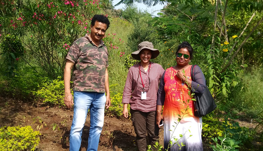 Mr. Isaac Kehimkar and Dr. Shubhalaxi renowned butterfly and moth experts are consulted for developing butterfly gardens on the campus