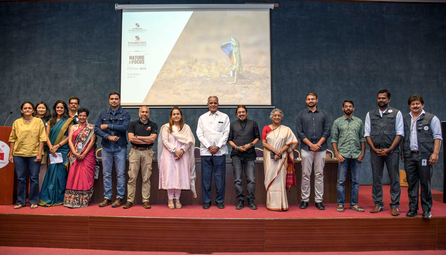 Dignitaries, staff and speakers in Nature In Focus (NiF) wildlife and photography Festival on January 12, 2019