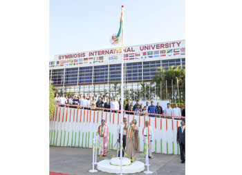 Symbiosis International (Deemed University) celebrated 69th Republic day