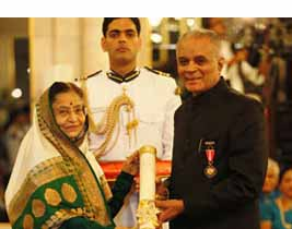 President of India conferred the 'Padma Bhushan' award to Prof. Dr. S.B. Mujumdar