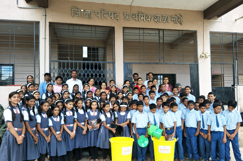 Symbiosis conducted awareness and sensitization session for the Zilla Parishad Secondary School