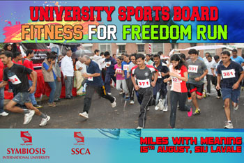 As every year, on the eve of Independence day, the University Sports Board is organizing the Fitness for Freedom Run' (FFR)