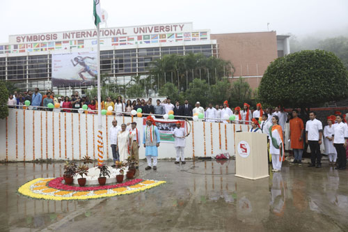 The Independence day 2018 was celebrated with great enthusiasm at all campuses of Symbiosis International (Deemed University)