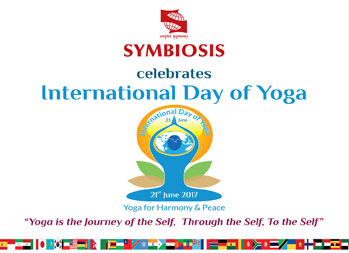 21st June, International Yoga Day will be celebrated with a difference at Symbiosis International University.
